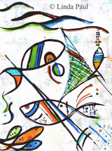fishing-with-picasso-12x16-small-painting-fish-art-beach-wall-art-300